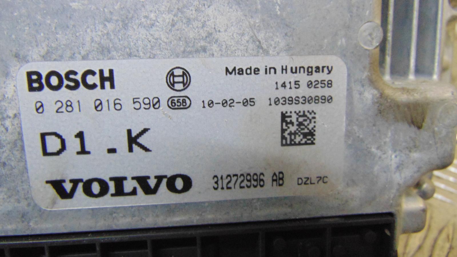 Volvo V50 Ecu Mk1 16 Diesel Engine Ecuspeedometerbcm Fusebox 2004 Fuse Box Location 2 Of 10 2012